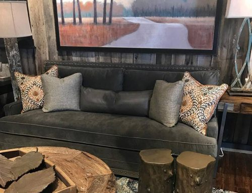 Velvet Taupe Sofa