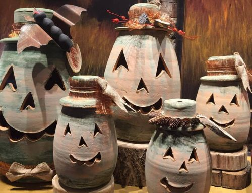 Terra-Cotta Pumpkin Lanterns